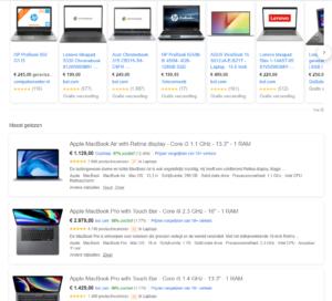 google shopping tabblad