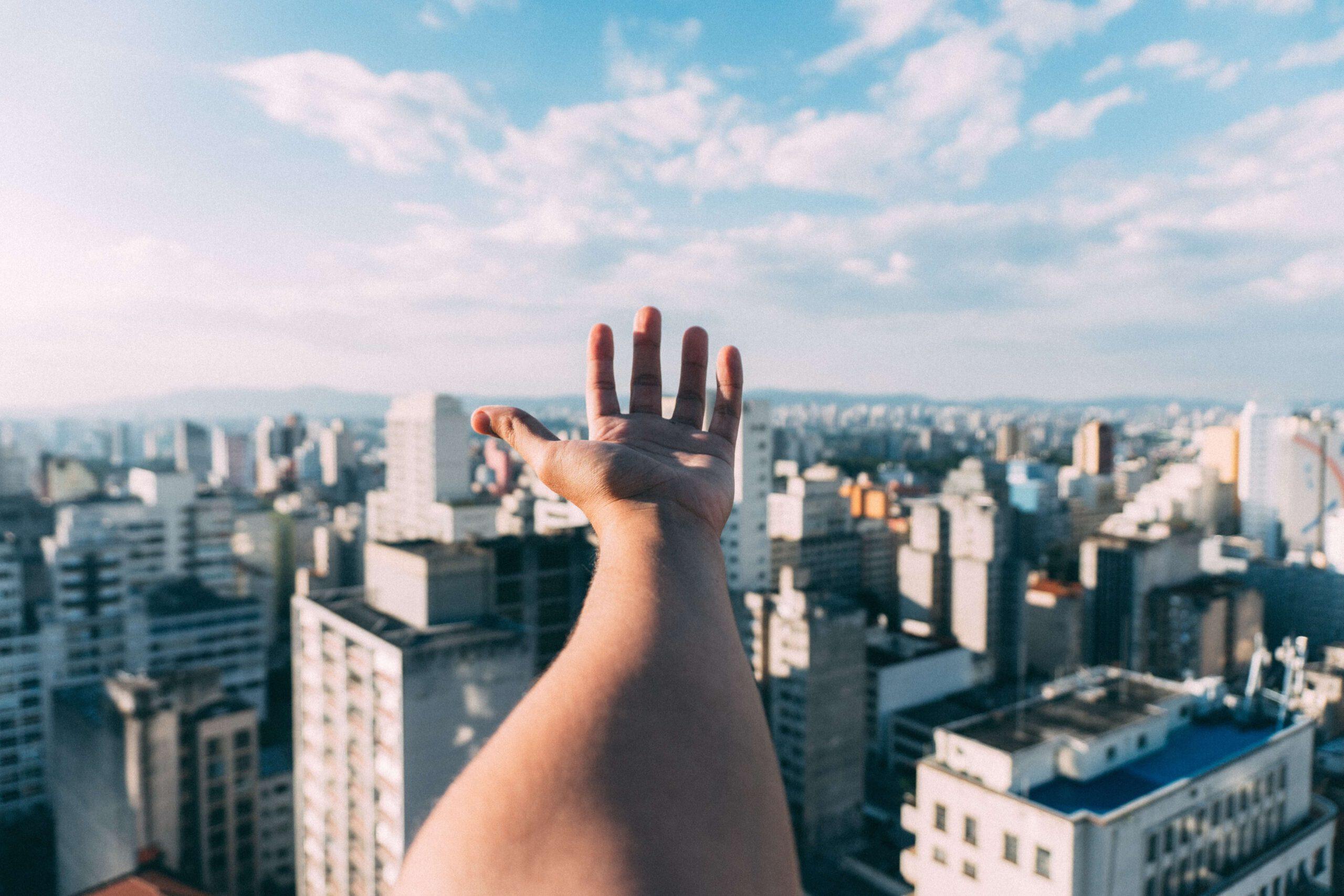 Skyscrapers uitzicht