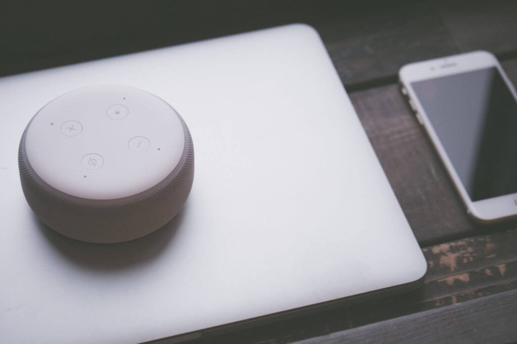 smart speaker en smart phone, voice search