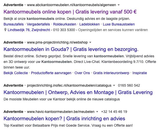 Google Ads Advertenties