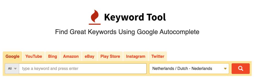 Keywordtool IO Screenshot
