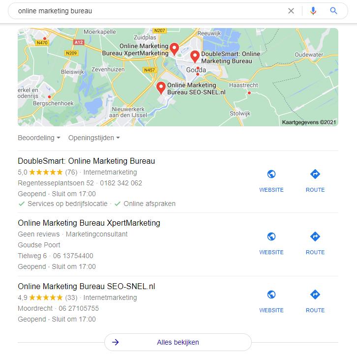 google mijn bedrijf in google zoeken