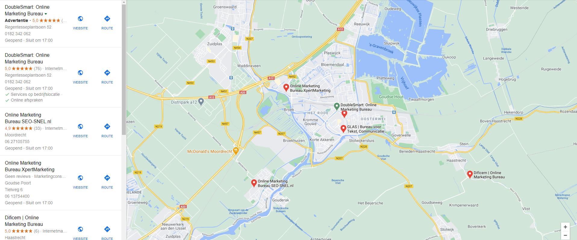 google mijn bedrijf in google maps