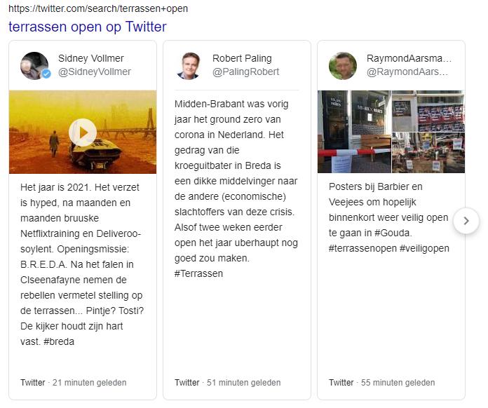 screenshot van Twitter carousel