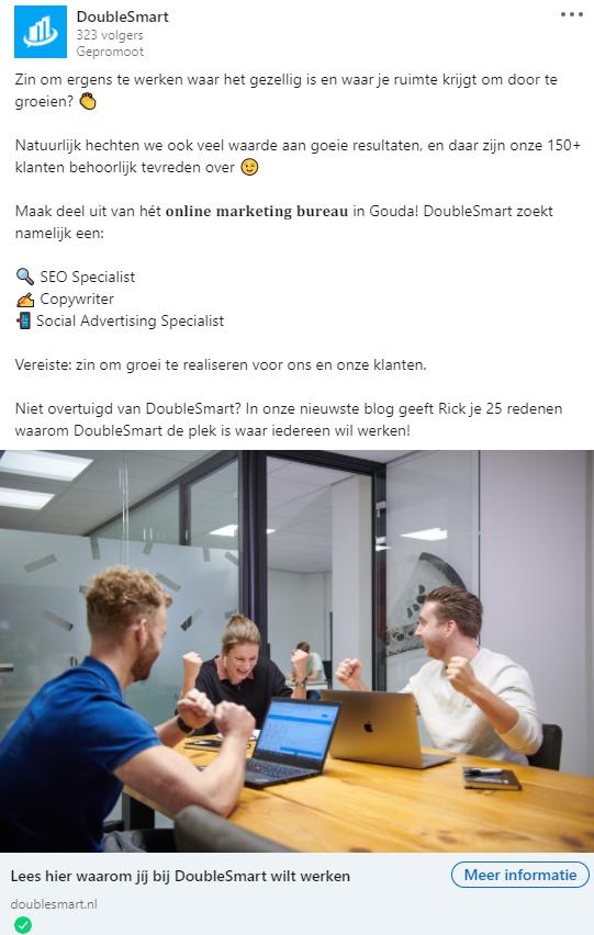 Advertentie LinkedIn